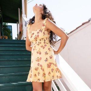 UO Festival Ruffle Mini Dress